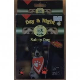 Karlie Safety dog day&night veiligheidshalsband met bandana  L