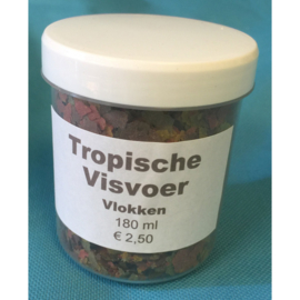 Tropische vis voer vlokken 180 ml 1+1 gratis