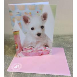 Studio Pets kaart puppy cupcakes