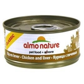 Almo Nature cat kip/lever 70gr