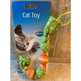 Duvo+ Cat toy slinger met catnip groen/oranje