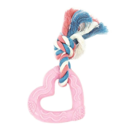 Puppy Heart teether roze