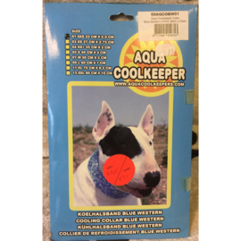 Aqua coolkeeper halsband blue western XXS