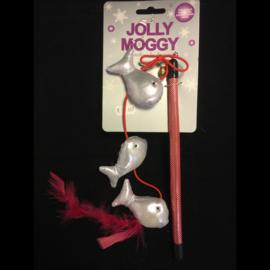 Rosewood Jolly Moggy speelhengel met catnip