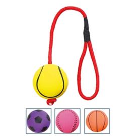 Sportbal aan touw drijvend geel