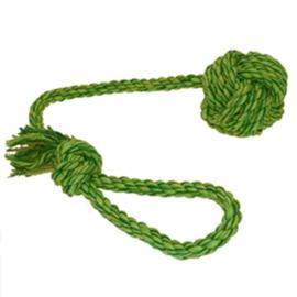 Werpflostouw met touwbal groen