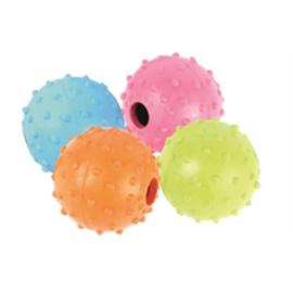 Rubber bal met belletje 5,5 cm