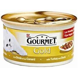 Gourmet Gold fijne hapjes kalkoen/eend 85gr 24x