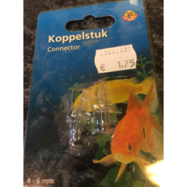 Pet products koppelstuk transparant 2st.