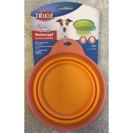 Trixie travel bowl - reis voer/drinkbak 0,5L