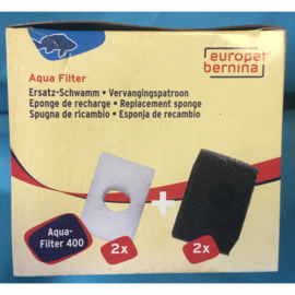 Europet bernina aqua filter 400 vervangingspatroon 2 + 2 st.