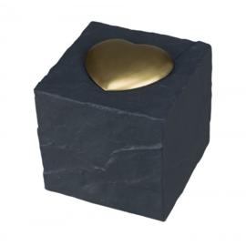 Gedenksteen kubus met hart
