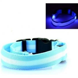 Led halsband licht blauw