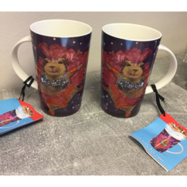 Big cup/cadeaubeker hamster roze