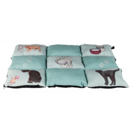 Patchwork kattenkussen/kleed mint