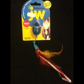 JW muis met verenstaart en catnip