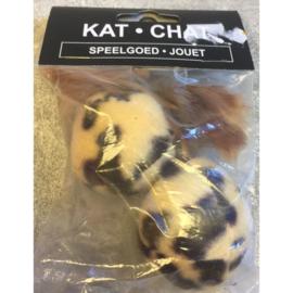 Kat Chat pluche bal met veer