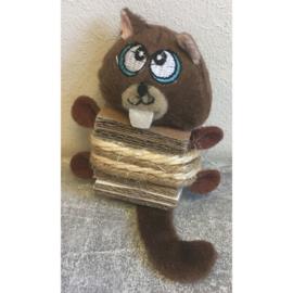 Marmot met sisal en karton
