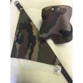 Ploeg halsband met zakdoek camouflage XL