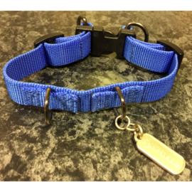 Sporn anti trek halsband blauw