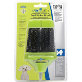 FURminator dual slicker brush small dogs