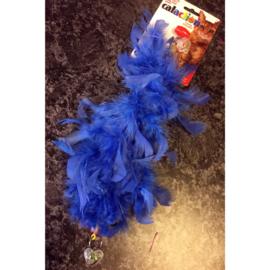 JW cataction featherlite catnip boa blauw