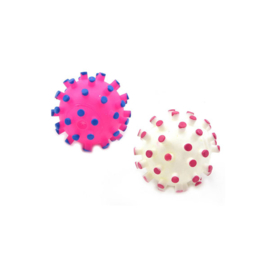 Duvo+ hondenspeeltje vinyl ball hedgehog roze