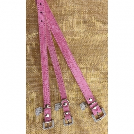 Halsbandje bedel hartje roze