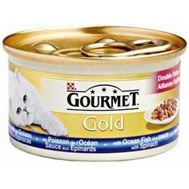 Gourmet Gold luxe mix zeevis/spinazie 85gr 24x