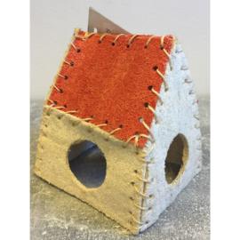 Duvo+ konijnenspeeltje huis 100% loofah
