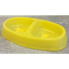Plastic duo voer/waterbak
