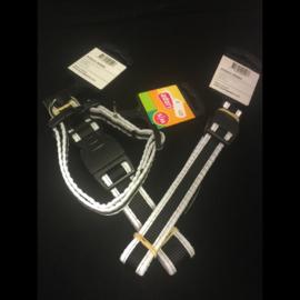 Adori klikhalsband zwart/reflex S/M