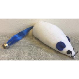 Canvas speelmuis wit/blauw