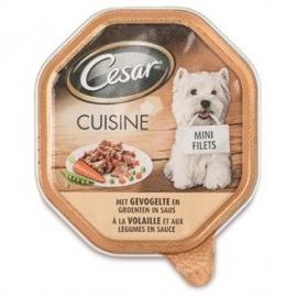 Cesar mini filets gevogelte/groente 150gr 12x