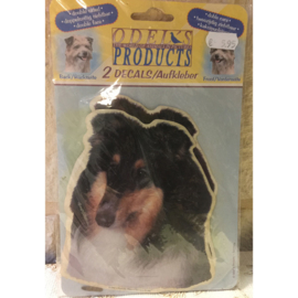 Odel's products hondenstickers collie 14 cm 2x