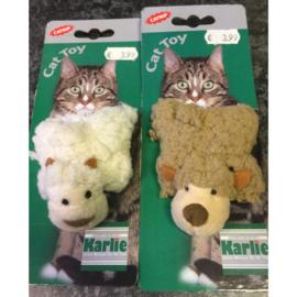 Karlie kattenspeeltje pluche schaapje met catnip