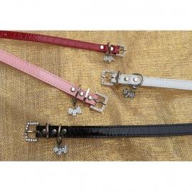 Halsbandje bedel hondje roze