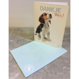 Studio Pets kaart Dank Je Wel!