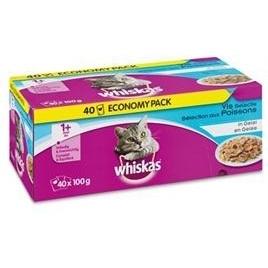 Whiskas multipack pouch adult vis selectie in gelei 40x100gr