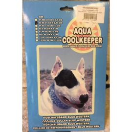 Aqua coolkeeper halsband blue western XS