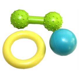 Rubber puppy speelgoedset