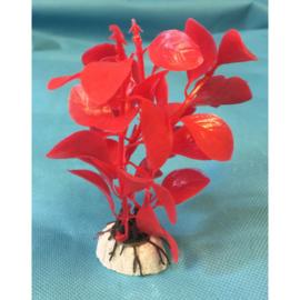 Kunststof sierplantje rood