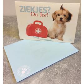 Studio Pets kaart Ziekjes Oh Jee!