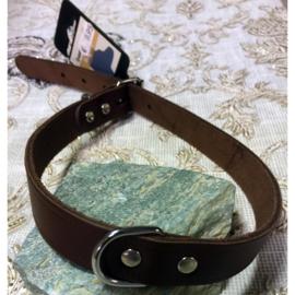 Beeztees leder halsband bruin 57 cm x 20 mm