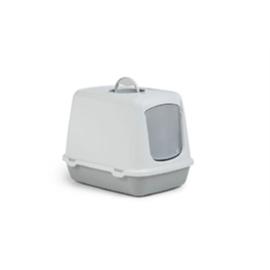 Kattenbak grijs/wit 50x37x39 cm