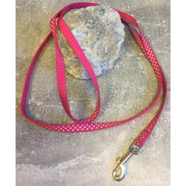 Nylon looplijn met stippen roze 100 cm