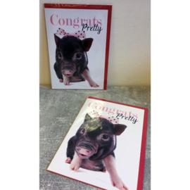 Studio Pets kaart Congrats Pretty!
