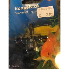 Pet products koppelstuk 3-weg kruisverbinding met ventiel