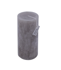 Pillar Candle 9x20cm Taupe