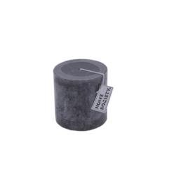 Pillar Candle 9x10cm D.Grey
